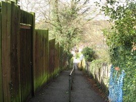 Footpath in Marlow Bottom