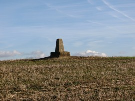 Trig point on Warden Hill