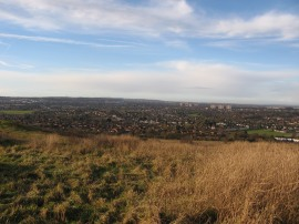 View over Luton from Warden Hill