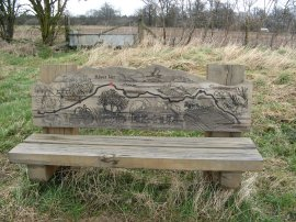 River Ver walk bench
