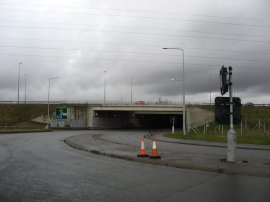 The M1 and A5 road junction