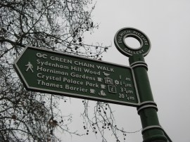 Signpost by the College Gate