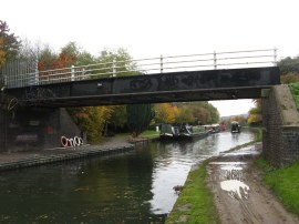 Footbridge where the route leaves the canal