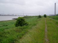 View towards the QE2 bridge