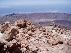 View from the summit of the Pico Del Teide