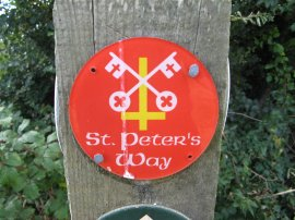 St Peters Way route marker
