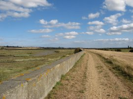 Path besides Benfleet Creek