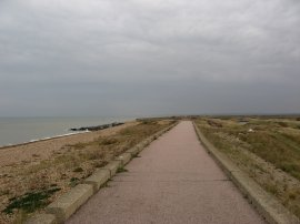 Sea Wall path nr Reculver
