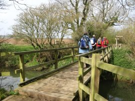 Crossing the Cuckmere River