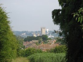 View back to Canterbury