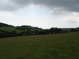 View South along the Elham Valley