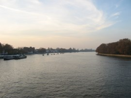 View upstream from Putney Bridge