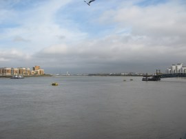 View down river from Woolwich