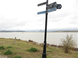 The end point of the Thames Path extension