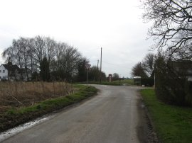 Junction with Rhoon Road